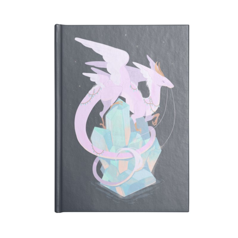 Crystal Dragon Accessories Blank Journal Notebook by StrangelyKatie's Store