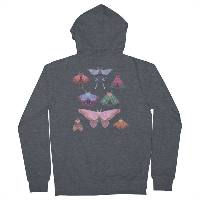 Magical Moths Women's French Terry Zip-Up Hoody by StrangelyKatie's Store