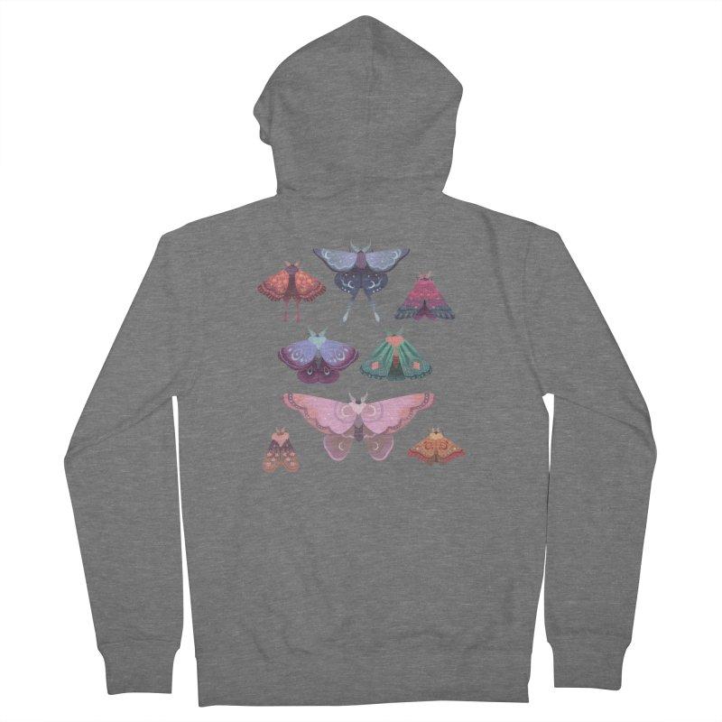 Magical Moths Men's Zip-Up Hoody by StrangelyKatie's Store