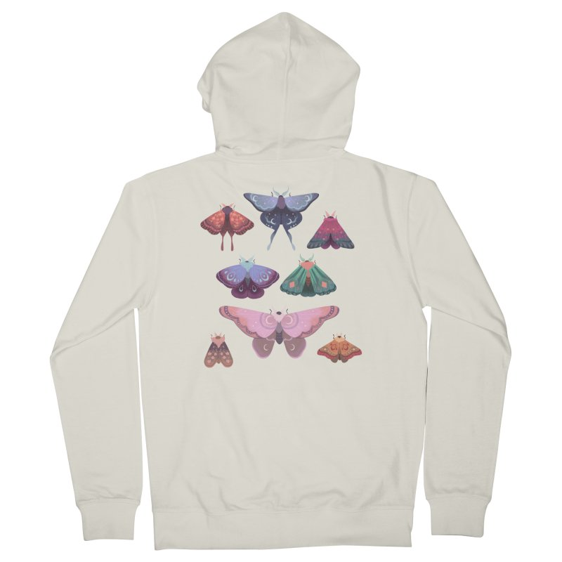 Magical Moths Men's Zip-Up Hoody by StrangelyKatie's Store