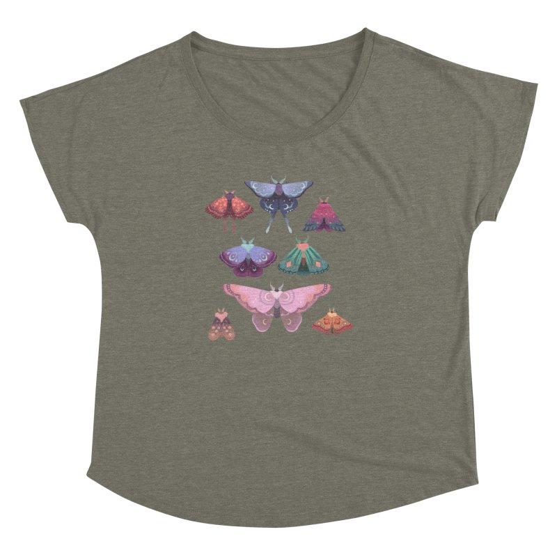 Magical Moths Women's Dolman Scoop Neck by StrangelyKatie's Store