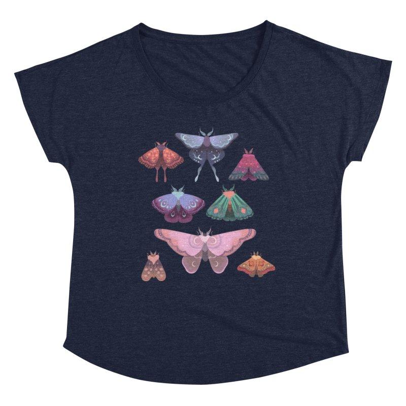 Magical Moths Women's Scoop Neck by StrangelyKatie's Store