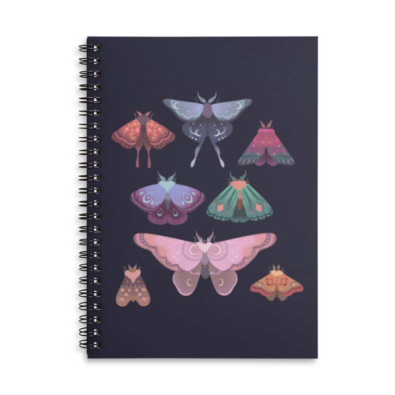 Magical Moths Accessories Lined Spiral Notebook by StrangelyKatie's Store
