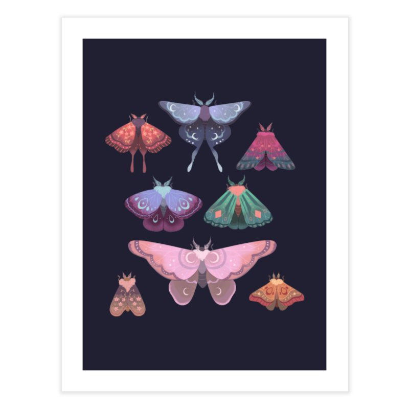 Magical Moths Home Fine Art Print by StrangelyKatie's Store