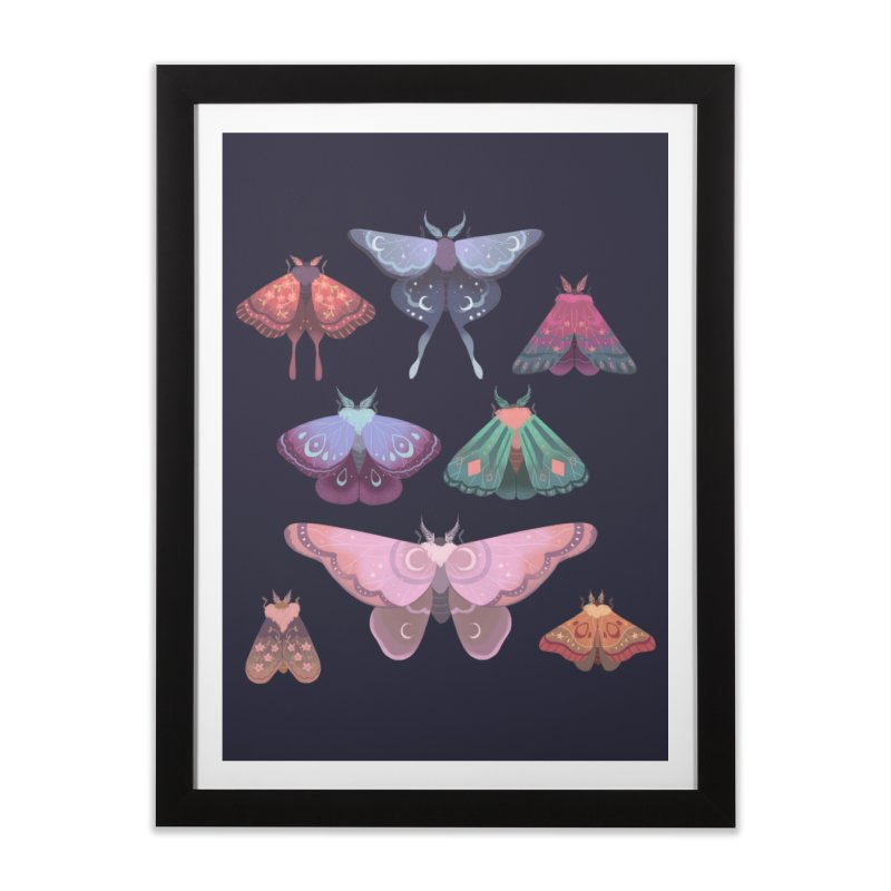Magical Moths Home Framed Fine Art Print by StrangelyKatie's Store