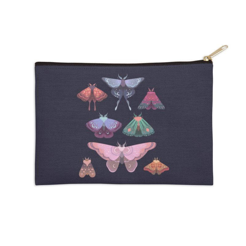 Magical Moths Accessories Zip Pouch by StrangelyKatie's Store