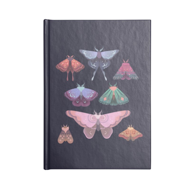 Magical Moths Accessories Lined Journal Notebook by StrangelyKatie's Store