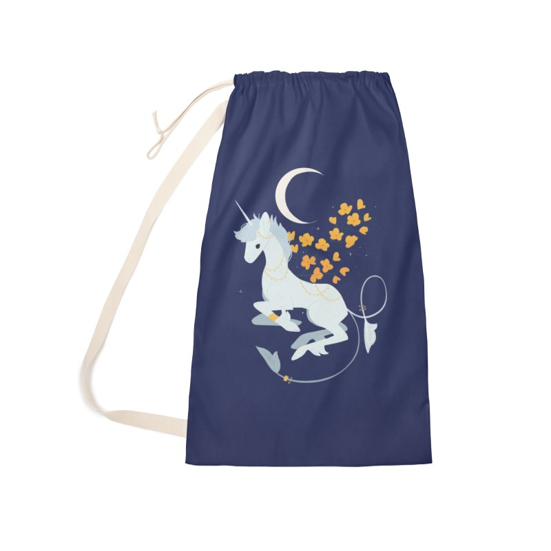 Unicorn Moon Accessories Laundry Bag Bag by StrangelyKatie's Store