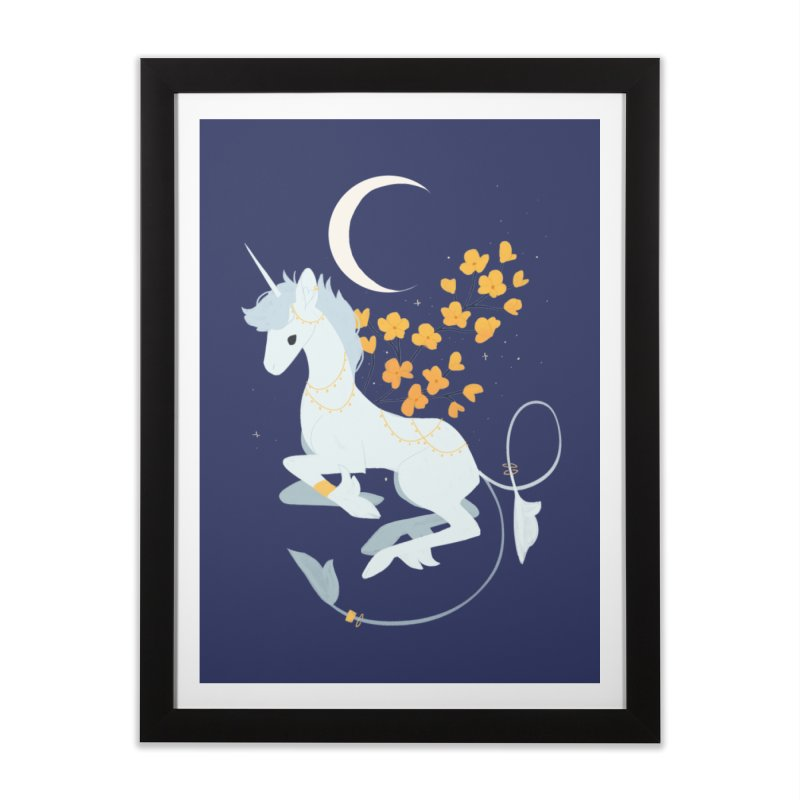 Unicorn Moon Home Framed Fine Art Print by StrangelyKatie's Store