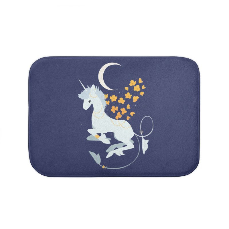 Unicorn Moon Home Bath Mat by StrangelyKatie's Store