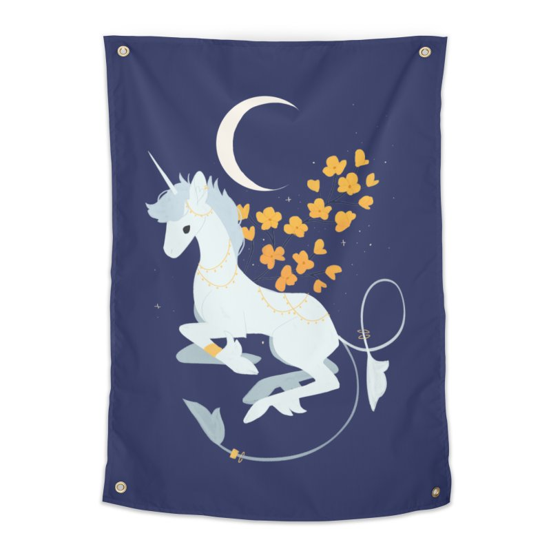 Unicorn Moon Home Tapestry by StrangelyKatie's Store