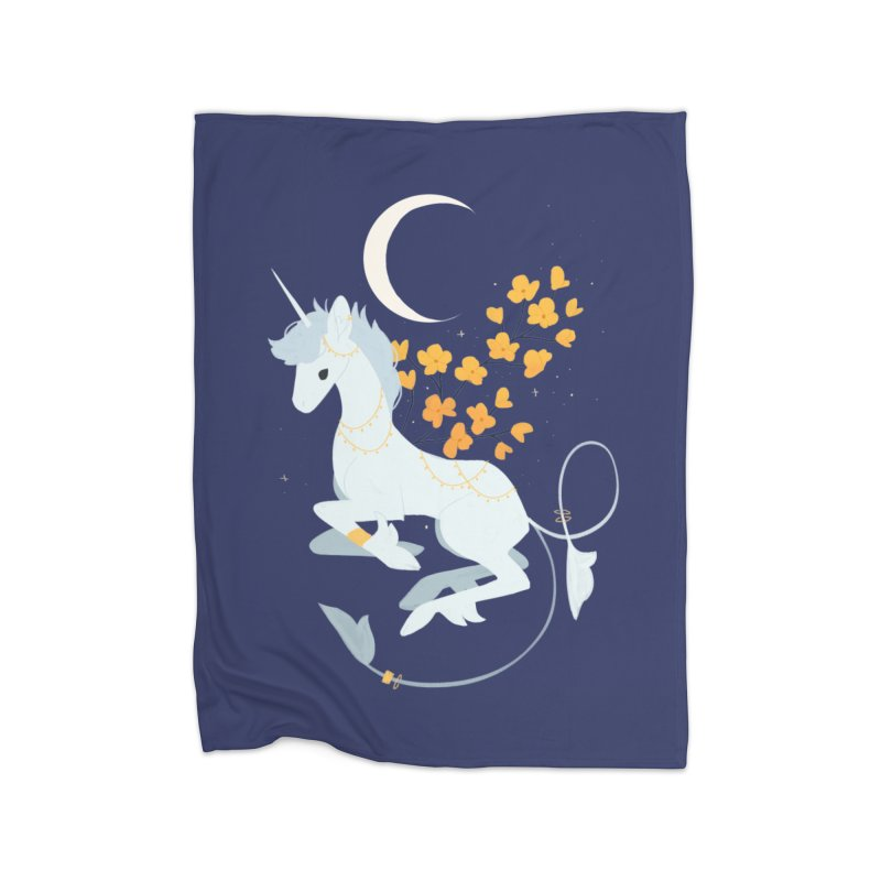 Unicorn Moon Home Blanket by StrangelyKatie's Store