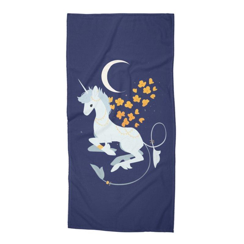 Unicorn Moon Accessories Beach Towel by StrangelyKatie's Store