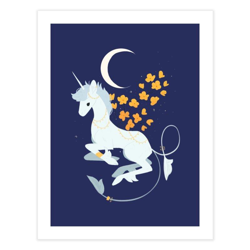 Unicorn Moon Home Fine Art Print by StrangelyKatie's Store