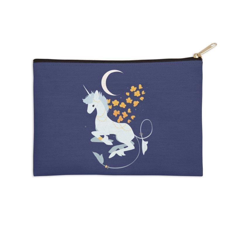 Unicorn Moon Accessories Zip Pouch by StrangelyKatie's Store