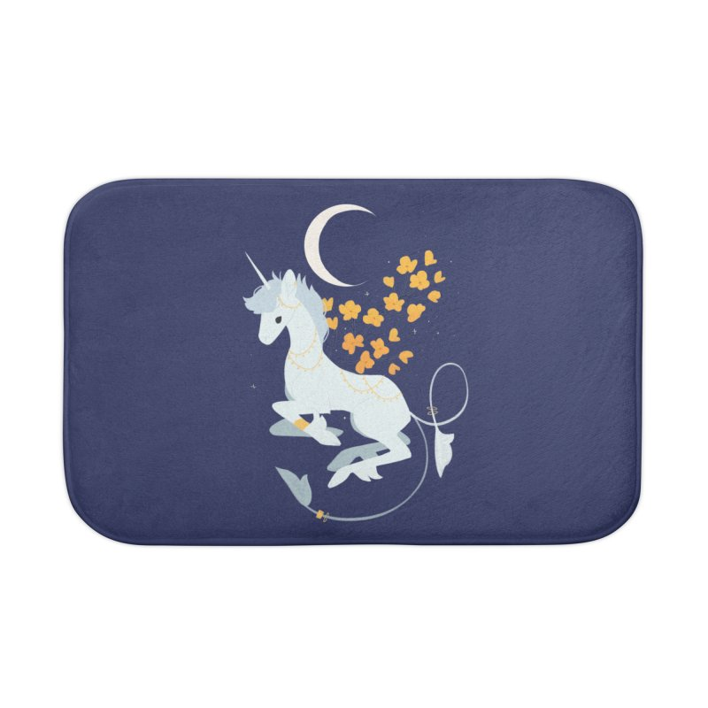 Unicorn Moon Home Bath Mat by StrangelyKatie's Store