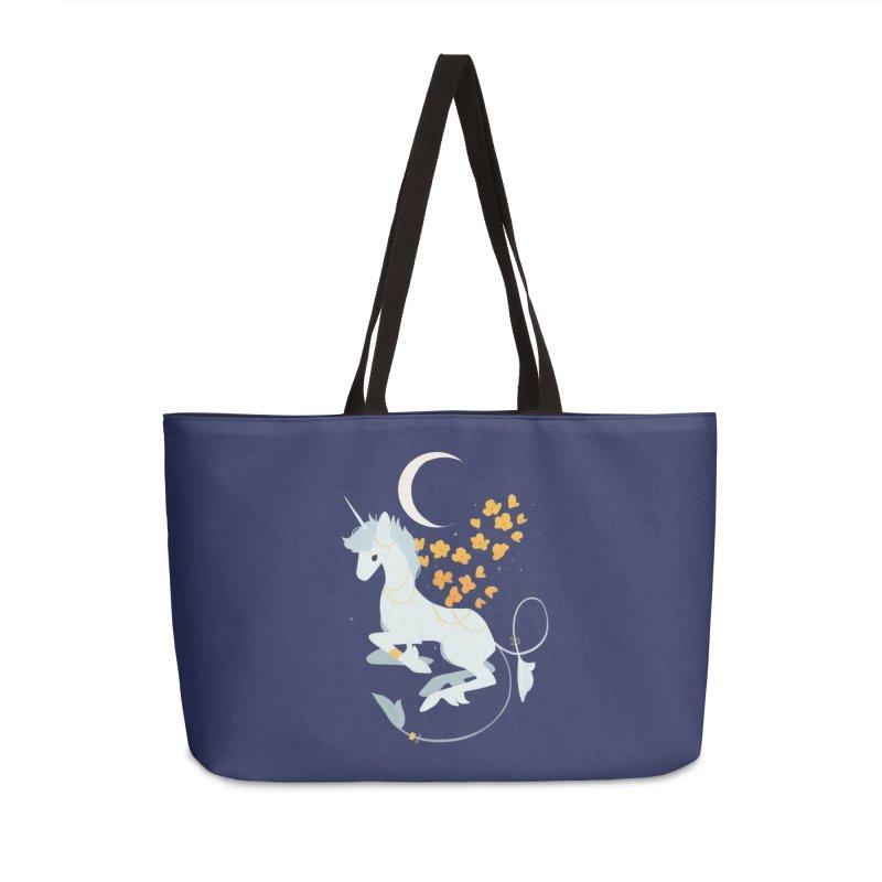 Unicorn Moon Accessories Weekender Bag Bag by StrangelyKatie's Store
