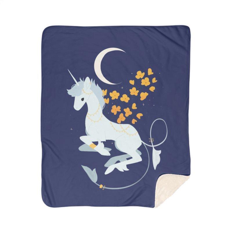 Unicorn Moon Home Sherpa Blanket Blanket by StrangelyKatie's Store