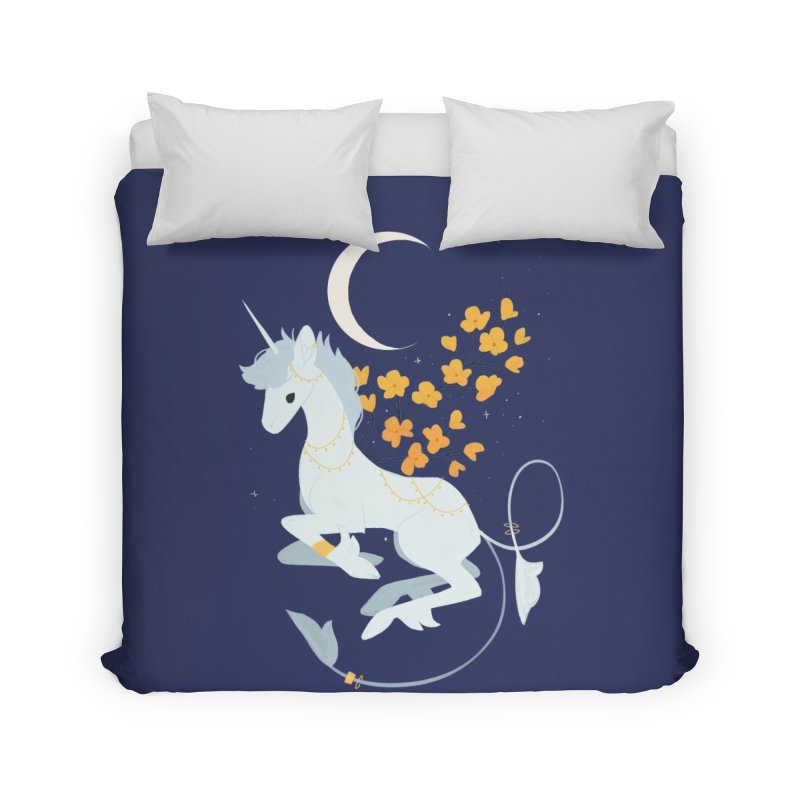 Unicorn Moon Home Duvet by StrangelyKatie's Store