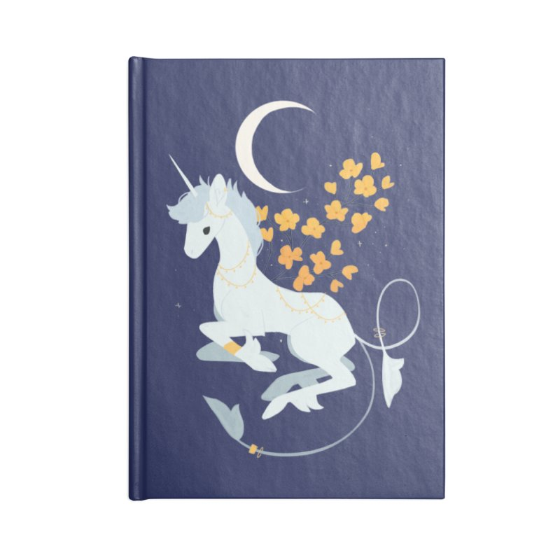 Unicorn Moon Accessories Notebook by StrangelyKatie's Store