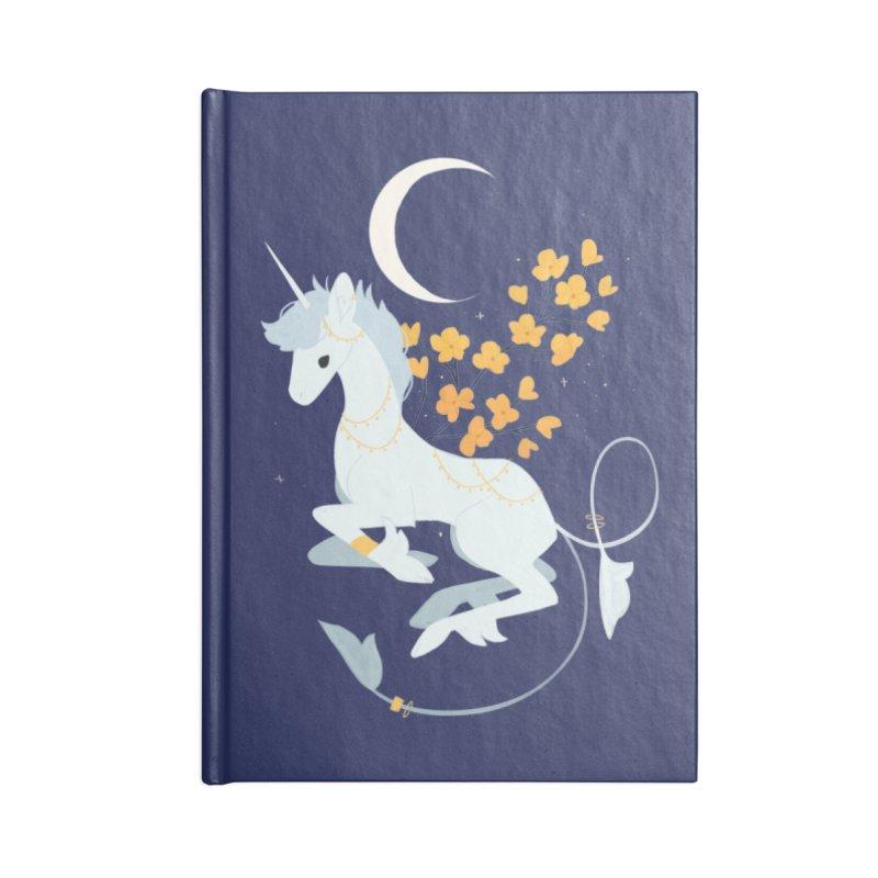 Unicorn Moon Accessories Lined Journal Notebook by StrangelyKatie's Store