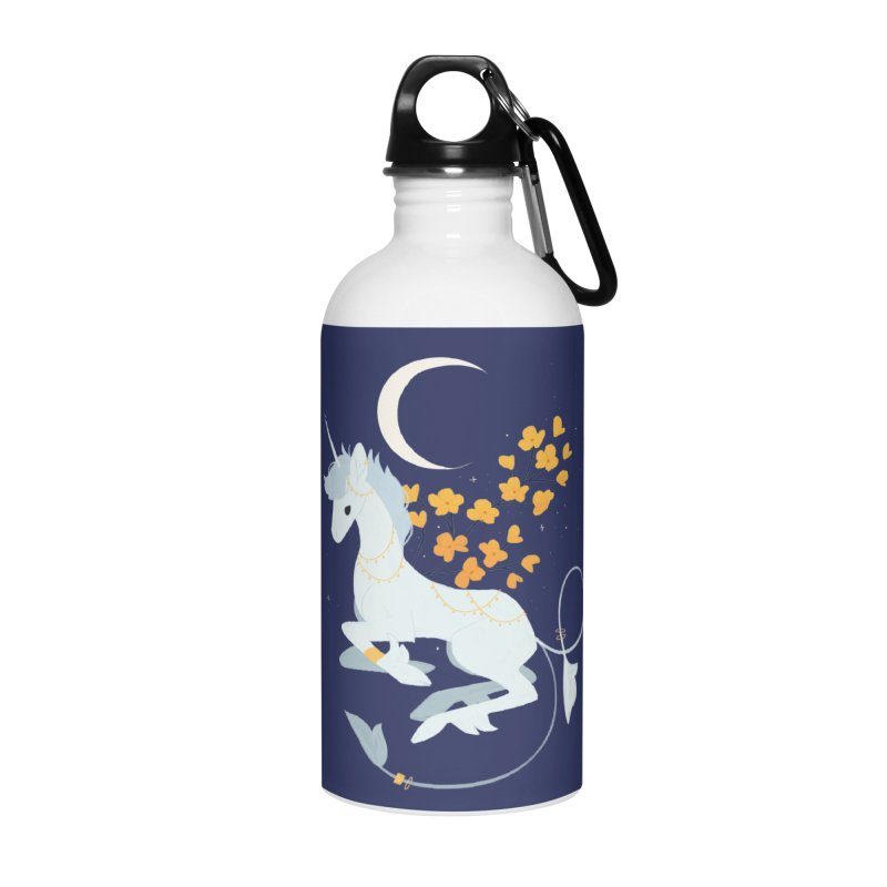 Unicorn Moon Accessories Water Bottle by StrangelyKatie's Store