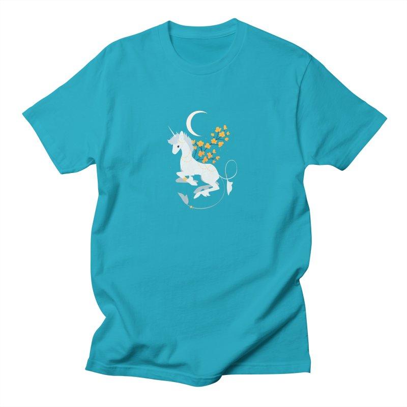 Unicorn Moon Men's T-Shirt by StrangelyKatie's Store