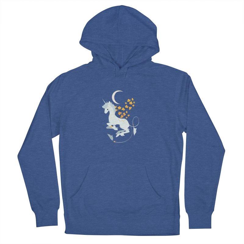 Unicorn Moon Women's French Terry Pullover Hoody by StrangelyKatie's Store