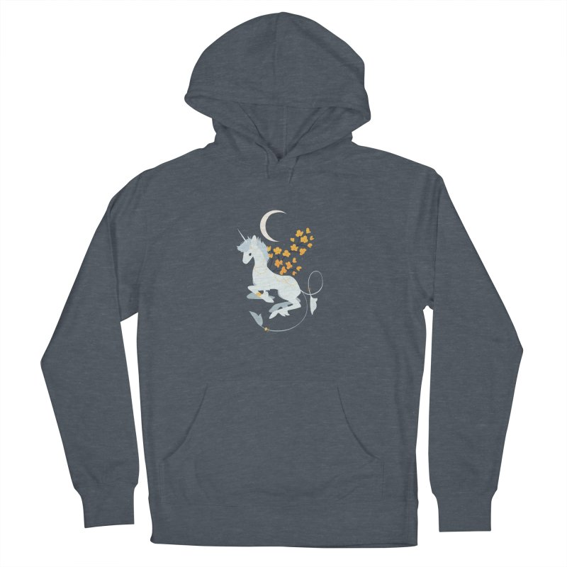 Unicorn Moon Men's French Terry Pullover Hoody by StrangelyKatie's Store