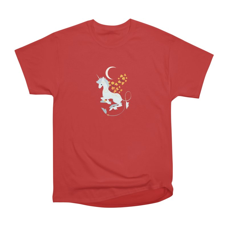 Unicorn Moon Men's Heavyweight T-Shirt by StrangelyKatie's Store