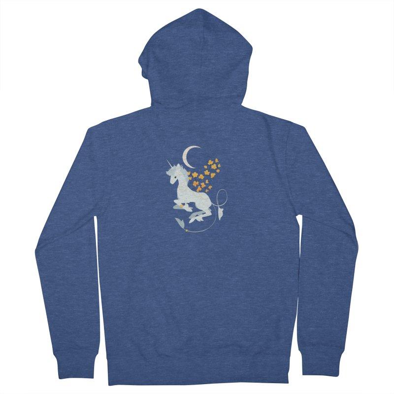 Unicorn Moon Women's Zip-Up Hoody by StrangelyKatie's Store
