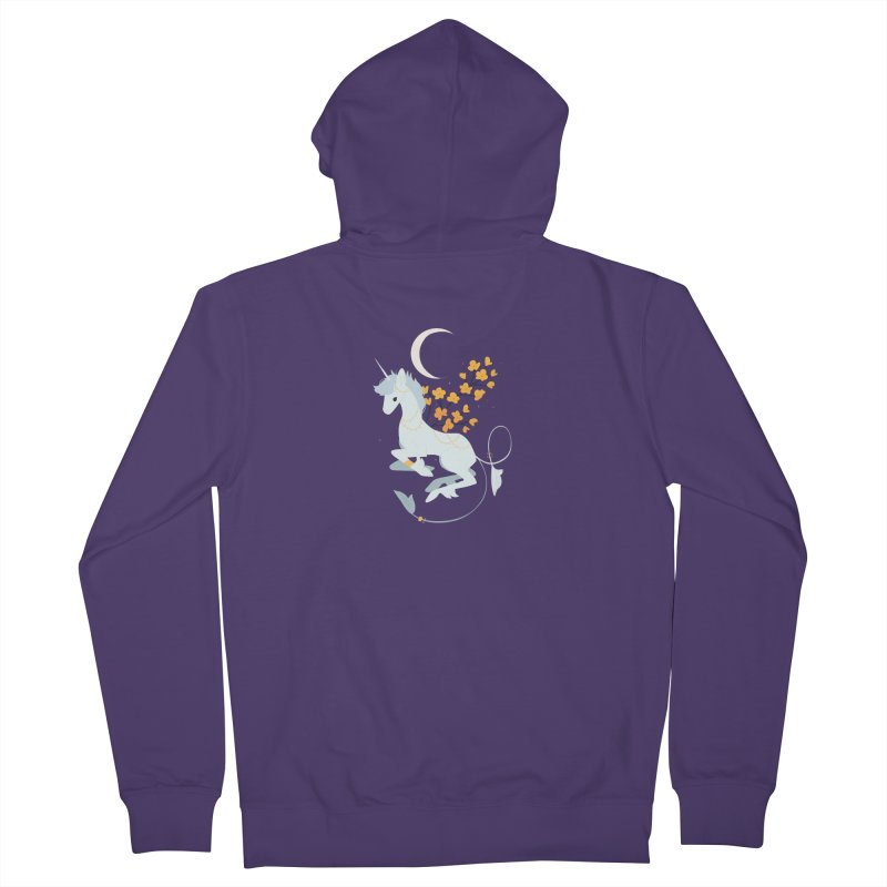 Unicorn Moon Women's Zip-Up Hoody by StrangelyKatie's Store
