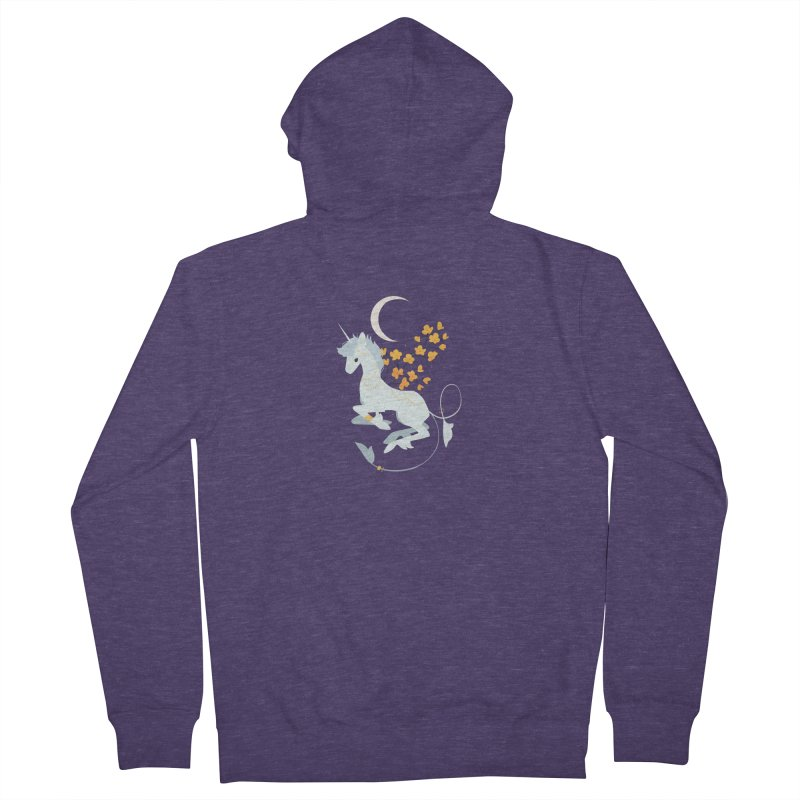 Unicorn Moon Men's Zip-Up Hoody by StrangelyKatie's Store