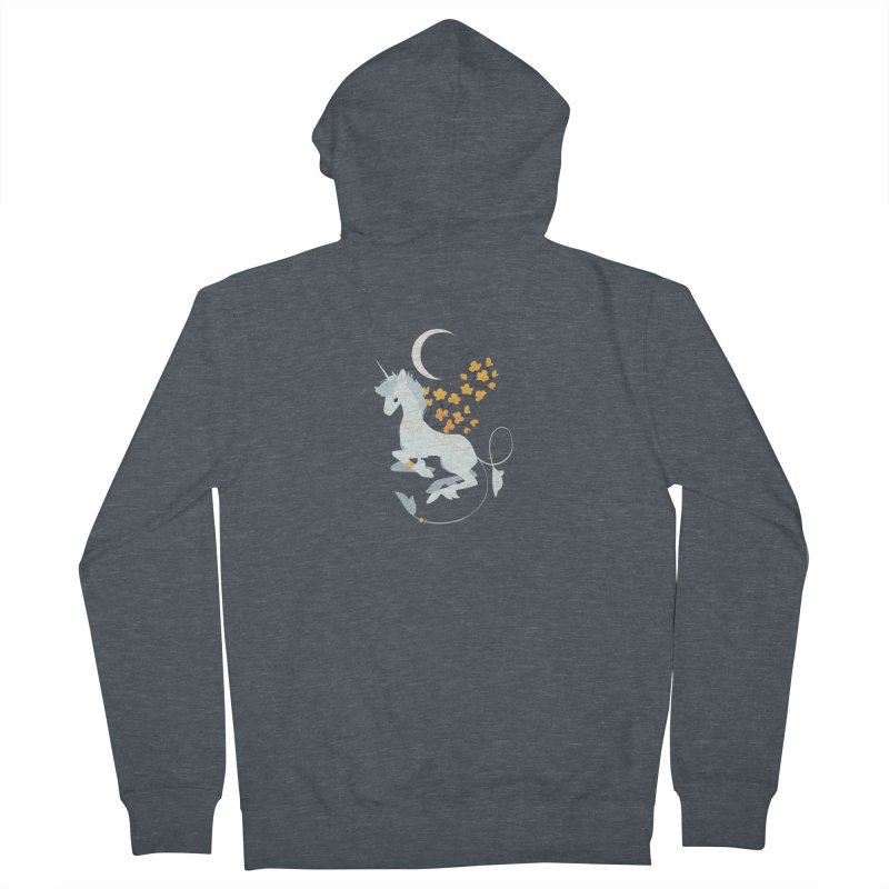 Unicorn Moon Men's Zip-Up Hoody by StrangelyKatie's Store