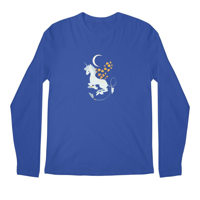 Unicorn Moon Men's Regular Longsleeve T-Shirt by StrangelyKatie's Store