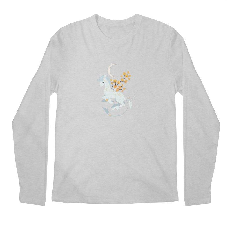 Unicorn Moon Men's Regular Longsleeve T-Shirt by StrangelyKatie's Store