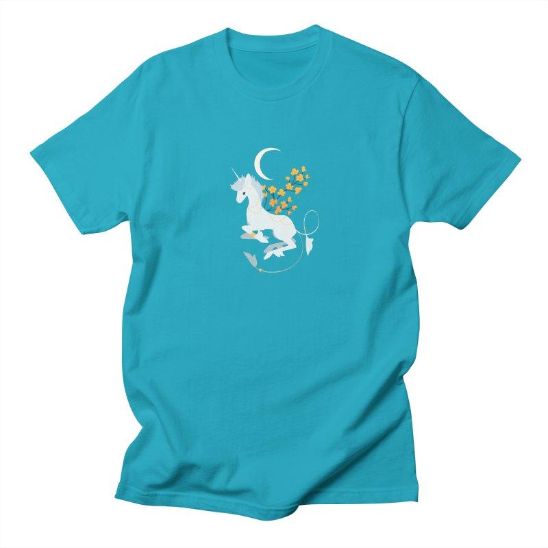 Unicorn Moon Women's Regular Unisex T-Shirt by StrangelyKatie's Store