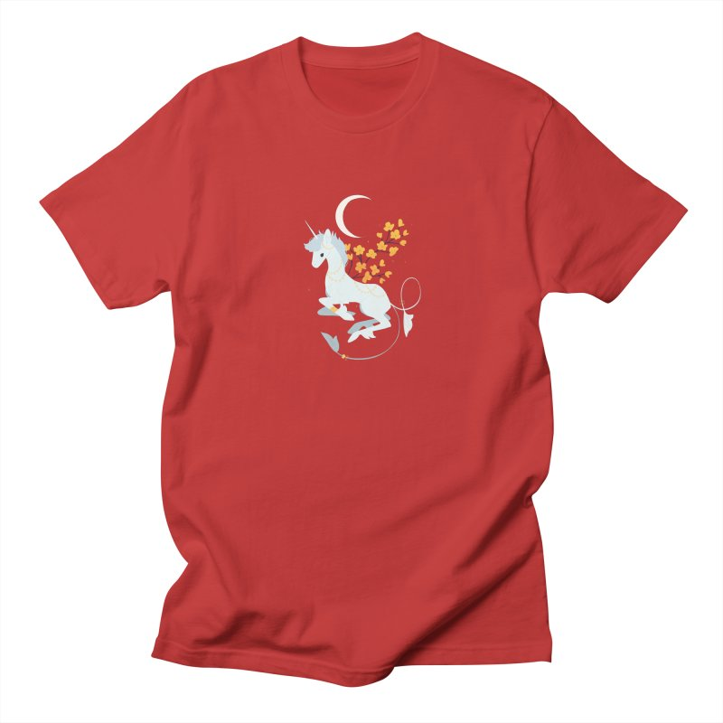 Unicorn Moon Men's Regular T-Shirt by StrangelyKatie's Store