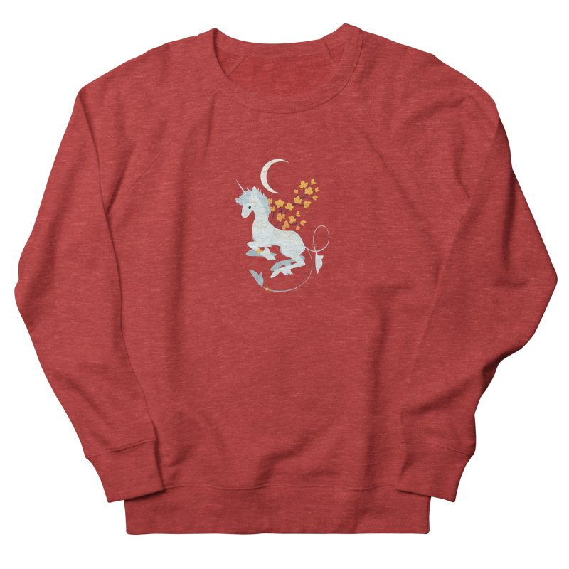 Unicorn Moon Men's French Terry Sweatshirt by StrangelyKatie's Store