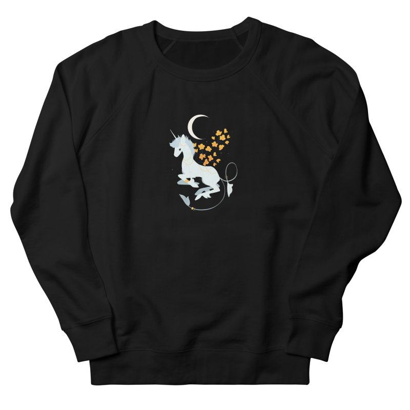 Unicorn Moon Men's French Terry Sweatshirt by StrangelyKatie's Store