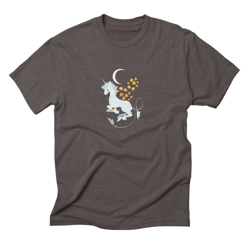 Unicorn Moon Men's Triblend T-Shirt by StrangelyKatie's Store