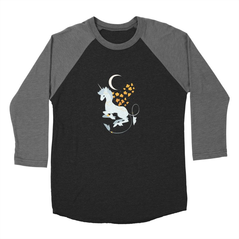 Unicorn Moon Men's Baseball Triblend Longsleeve T-Shirt by StrangelyKatie's Store