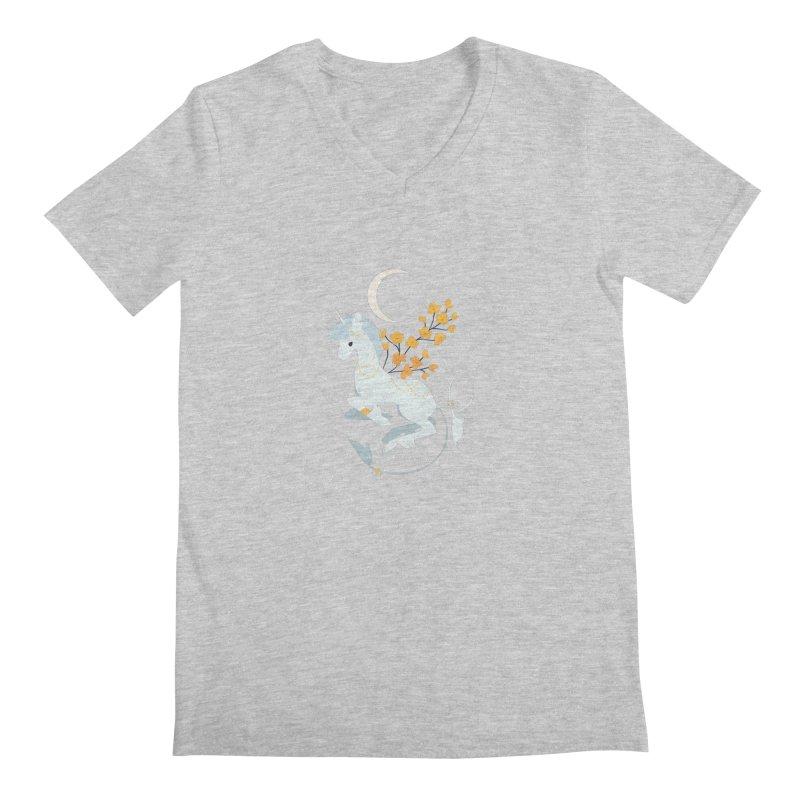 Unicorn Moon Men's V-Neck by StrangelyKatie's Store
