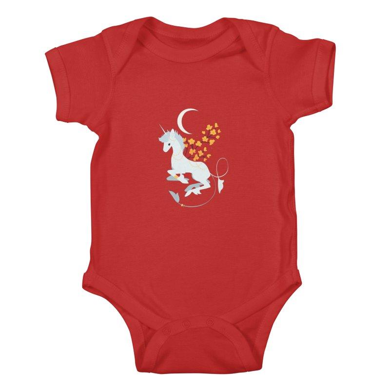 Unicorn Moon Kids Baby Bodysuit by StrangelyKatie's Store