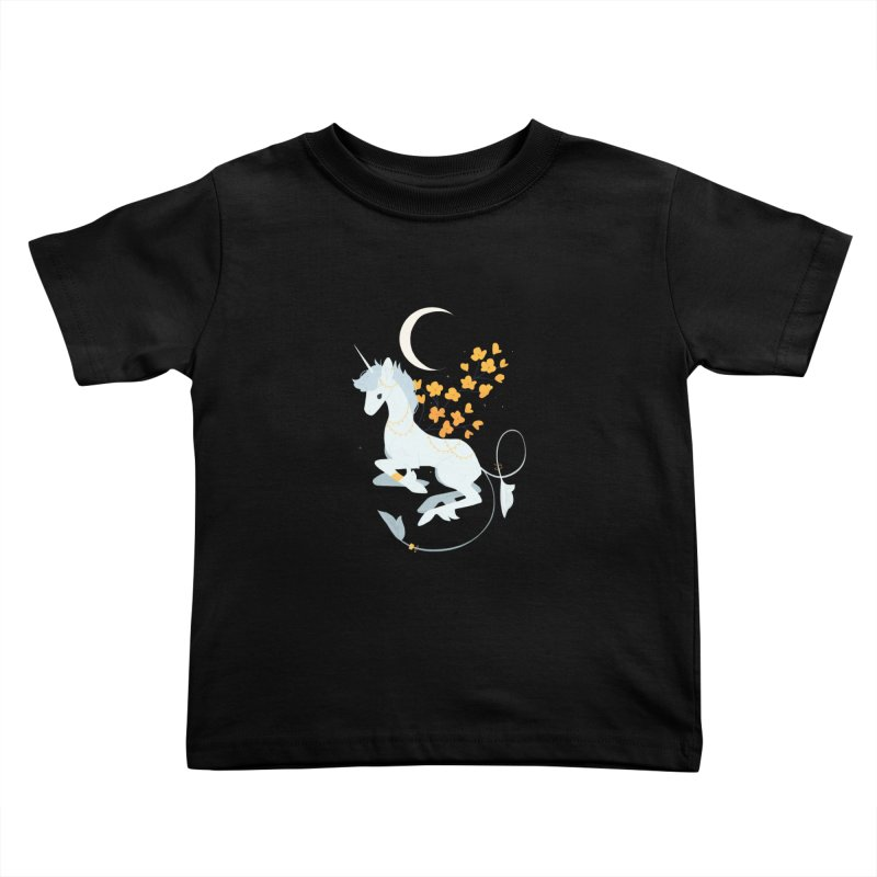Unicorn Moon Kids Toddler T-Shirt by StrangelyKatie's Store