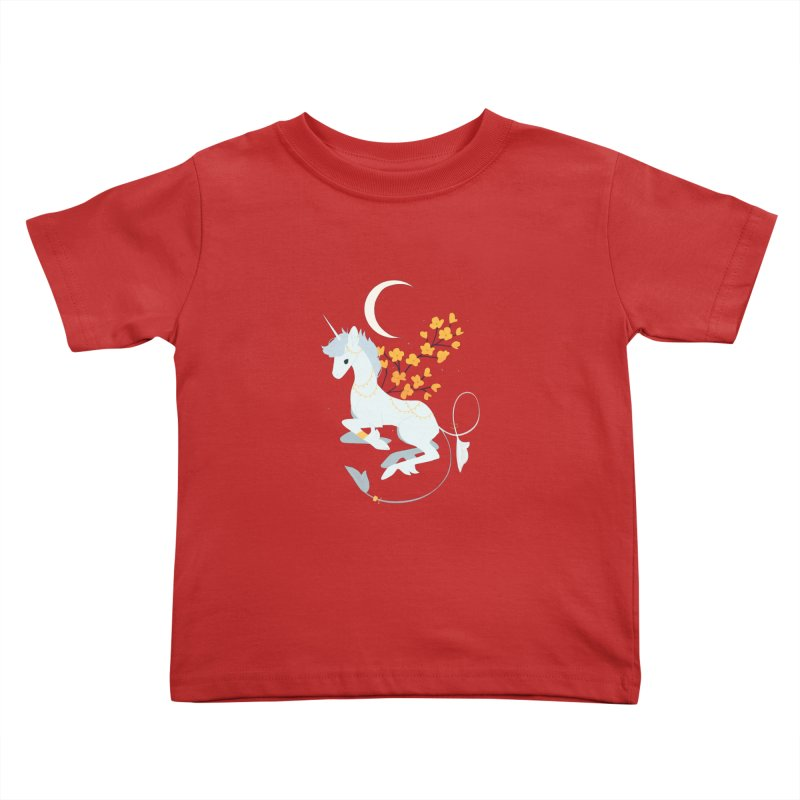Unicorn Moon Kids Toddler T-Shirt by StrangelyKatie's Store