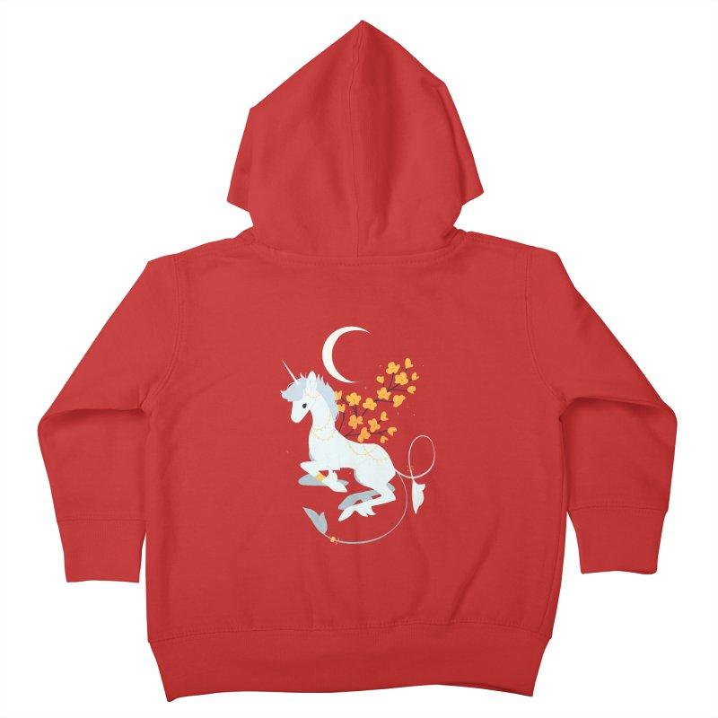 Unicorn Moon Kids Toddler Zip-Up Hoody by StrangelyKatie's Store