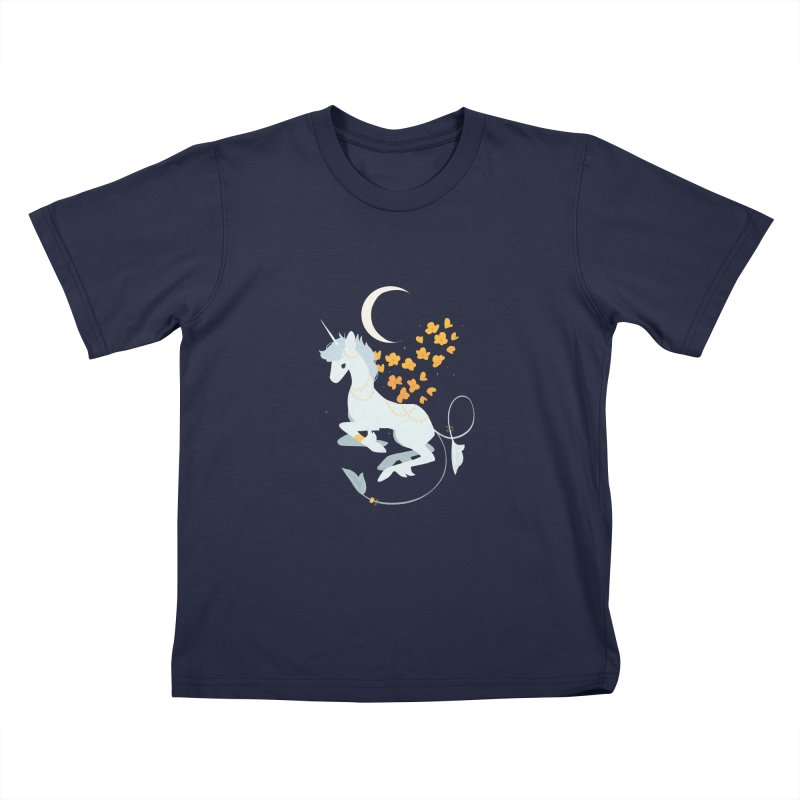 Unicorn Moon Kids T-Shirt by StrangelyKatie's Store
