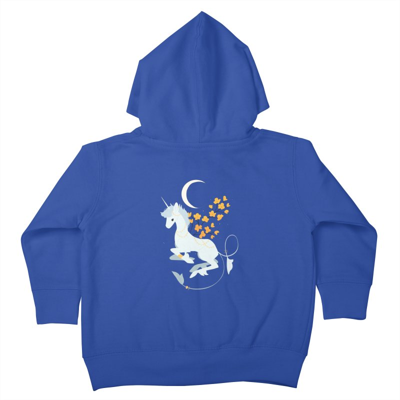 Unicorn Moon Kids Toddler Zip-Up Hoody by StrangelyKatie's Store