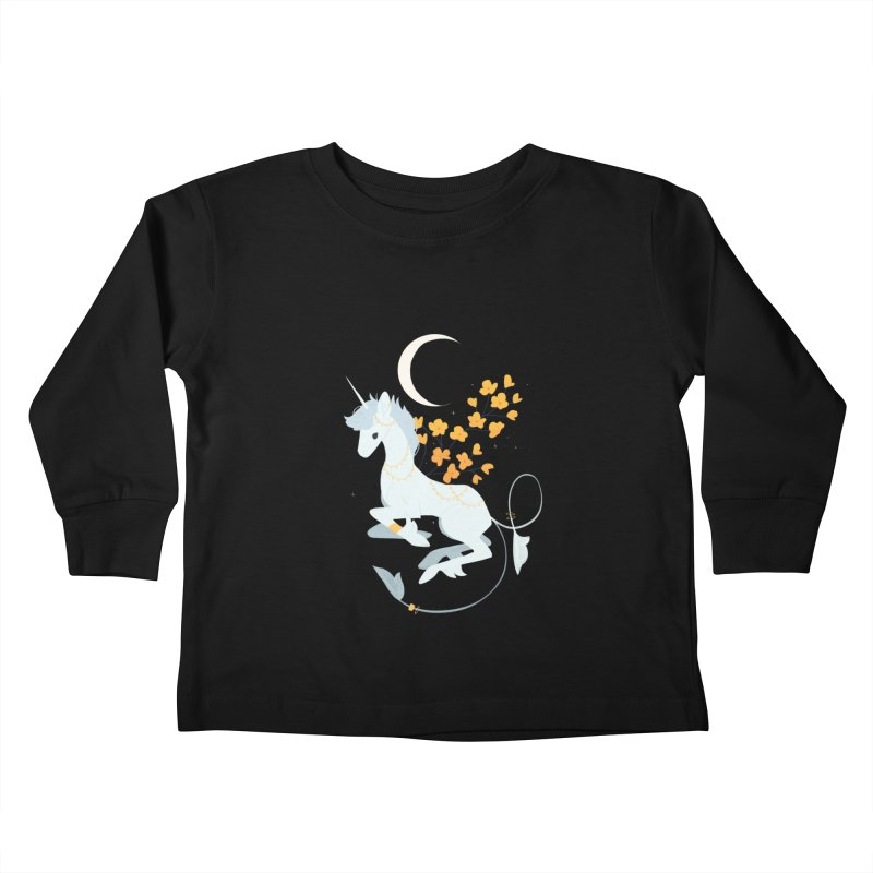 Unicorn Moon Kids Toddler Longsleeve T-Shirt by StrangelyKatie's Store